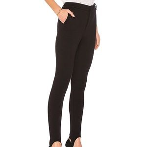 Frame pointe stirrup pant noir black stretch